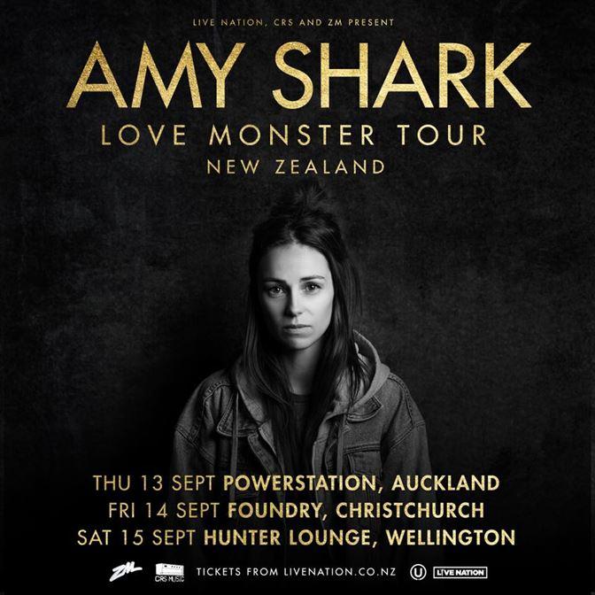 Amy Shark Love Monster NZ tour poster