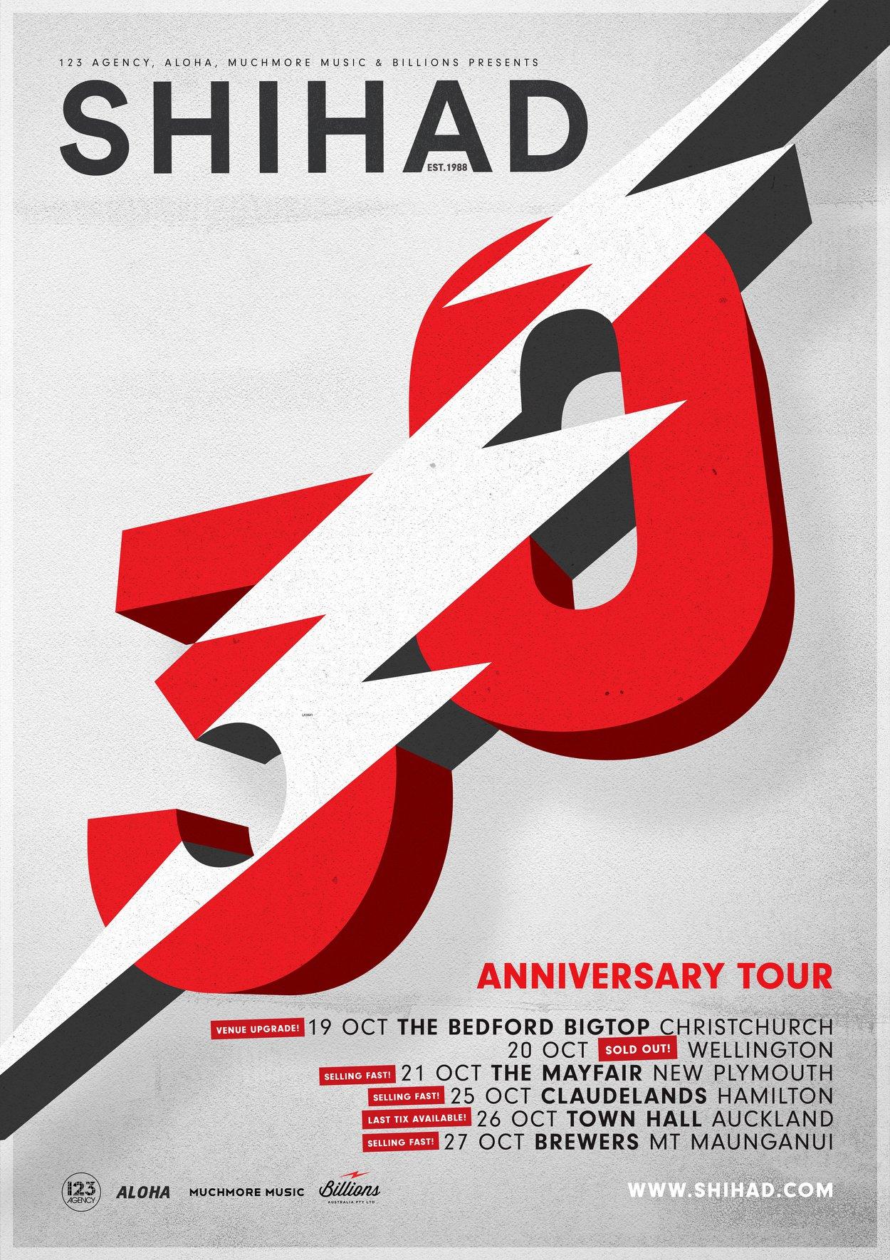 Shihad 30 Tour Poster
